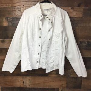 Chico's Jacket Platinum Button Down Chico's Size 3